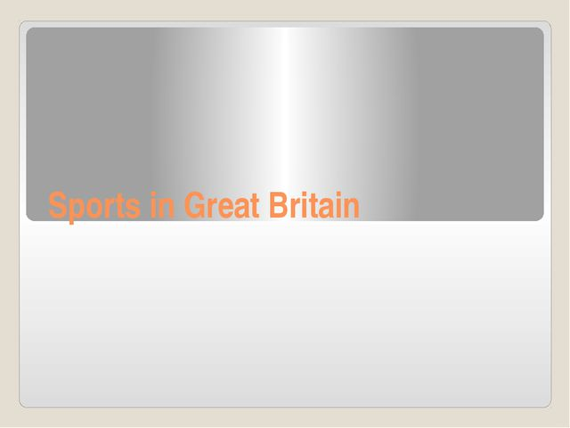Sports in Great Britain