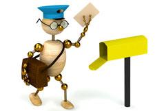 робот отправляет почту