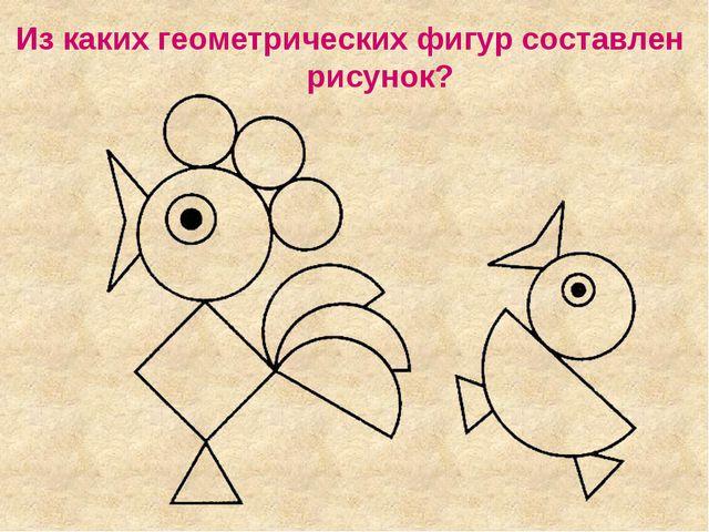 Из каких геометрических фигур составлен рисунок?