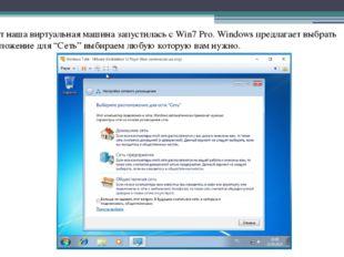 Ну вот наша виртуальная машина запустилась с Win7 Pro. Windows предлагает выб
