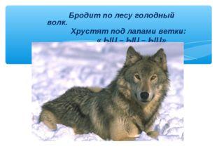 Бродит по лесу голодный волк. Хрустят под лапами ветки: « ЫЦ – ЫЦ – ЫЦ»