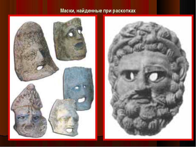 Маски, найденные при раскопках