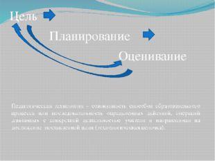 Цель Планирование Оценивание Педагогическая технология – совокупность способо