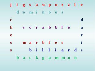 jigsawpuzzle dominoes cd hscrabble
