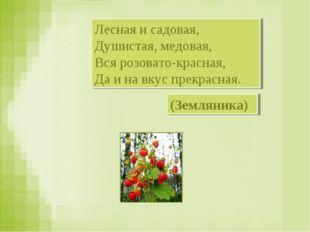 Лесная и садовая, Душистая, медовая, Вся розовато-красная, Да и на вкус прекр