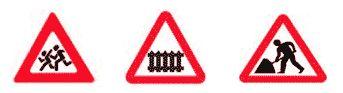 Дорожные работы - знаки
