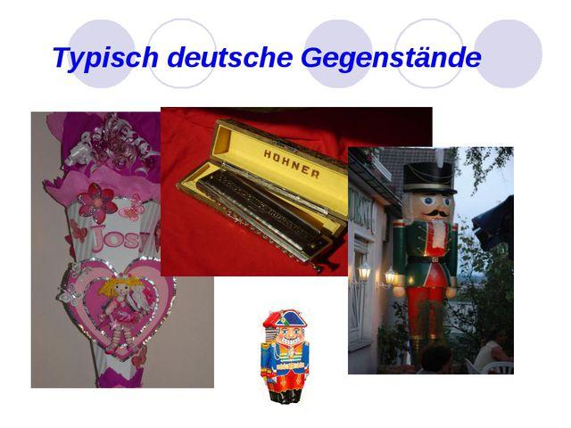 Typisch deutsche Gegenstände