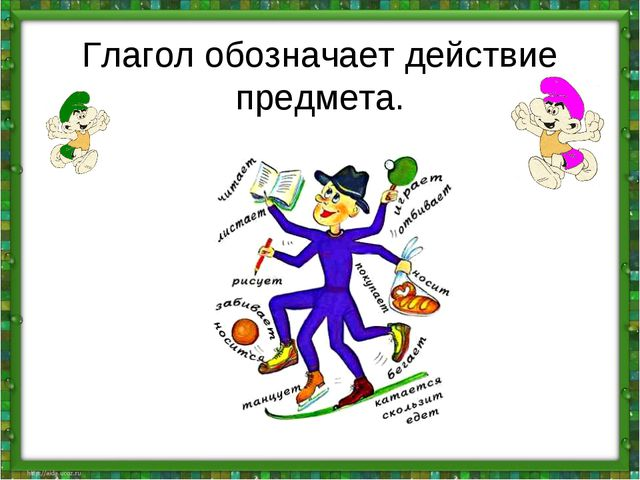Урок по информатике во 2 классе действие предметов