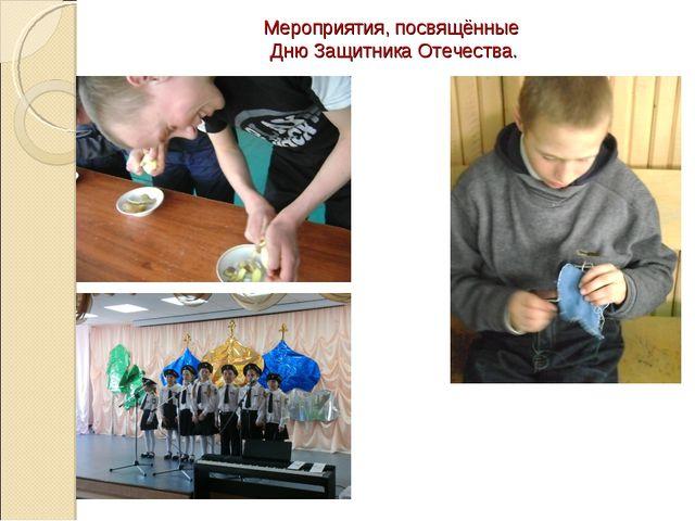 Мероприятия, посвящённые Дню Защитника Отечества.