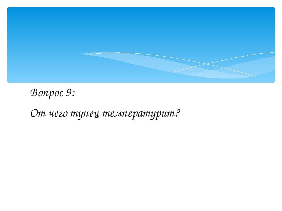 Вопрос 9: От чего тунец температурит?