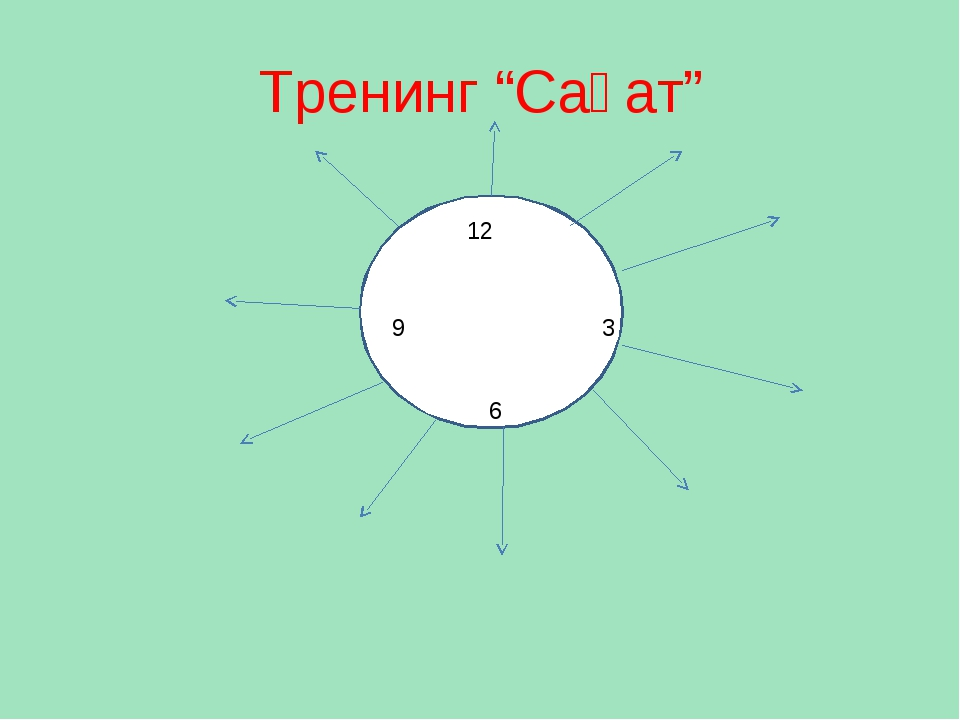 "Тренинг ""Сағат"" 12 3 6 9"