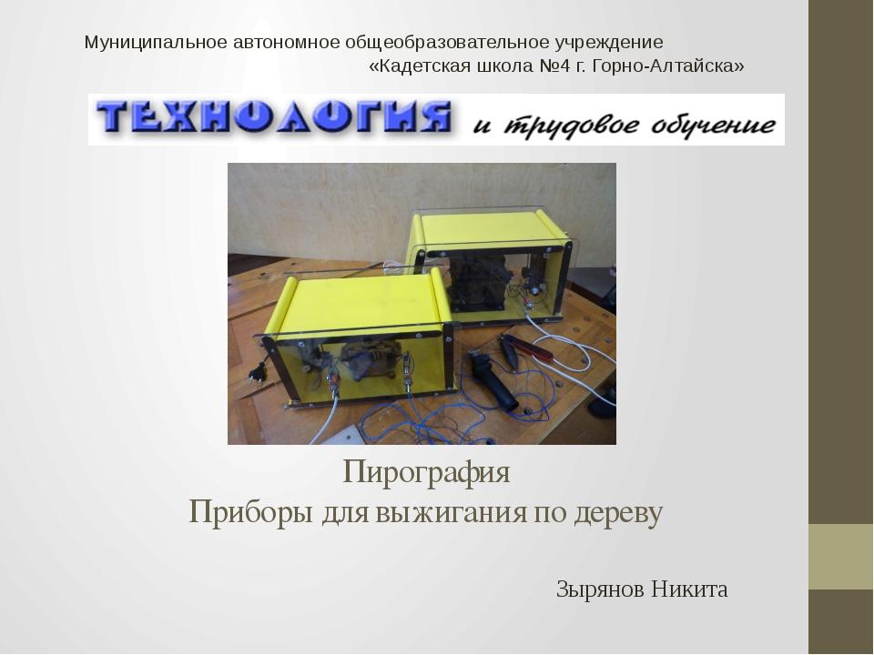 Пирография Приборы для выжигания по дереву Зырянов Никита Муниципальное авто...