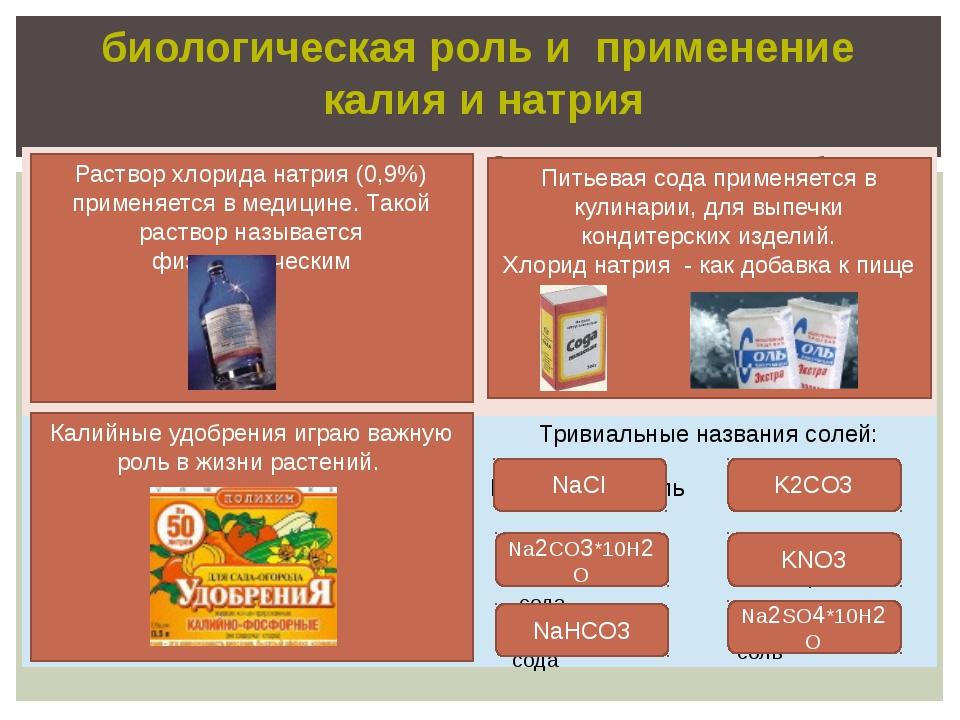 биологическая роль и применение калия и натрия ответ ответ ответ NaCl Криста...