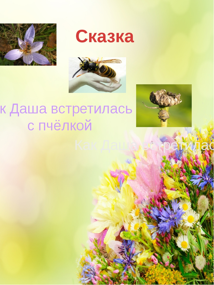 Сказка К чему приводят желания Как Даша встретилась с пчёлкой Как Даша встрет...