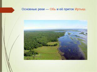 Основные реки— Обь и её приток Иртыш.