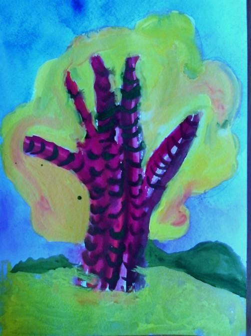 Деревья из ладошек. Нетрадиционные техники рисования в детском саду. Рисуем и рассказываем