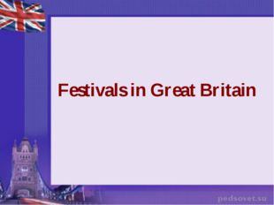 Festivals in Great Britain