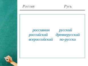 Россия Русь россиянинрусский российскийдревнерусский всероссийскийпо-