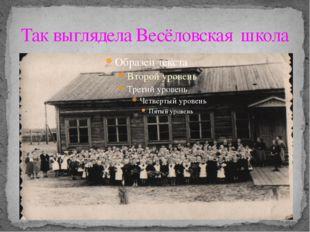Так выглядела Весёловская школа