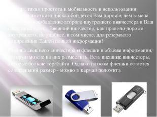 Правда, такая простота и мобильность в использовании внешнего жесткого диска