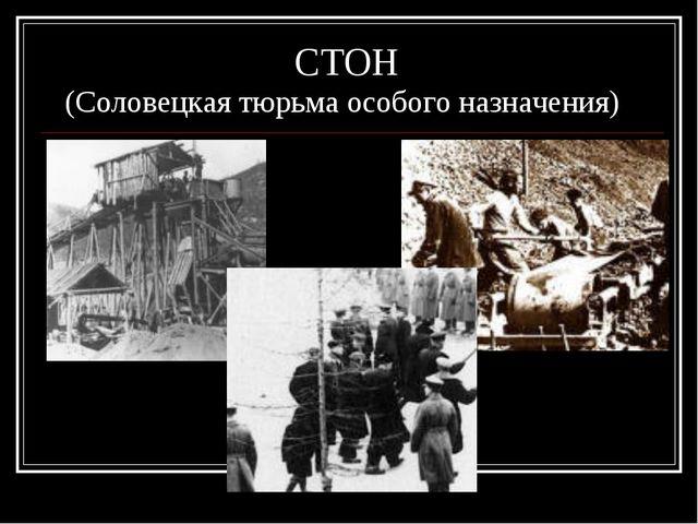СТОН (Соловецкая тюрьма особого назначения)