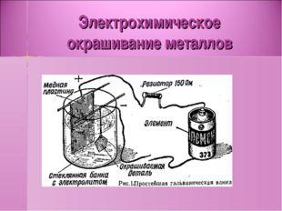 Электрохимическое окрашивание металлов