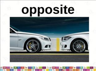 opposite * *