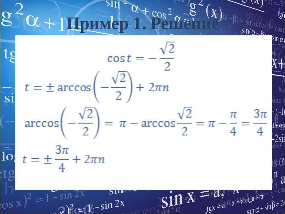 Пример 1. Решение