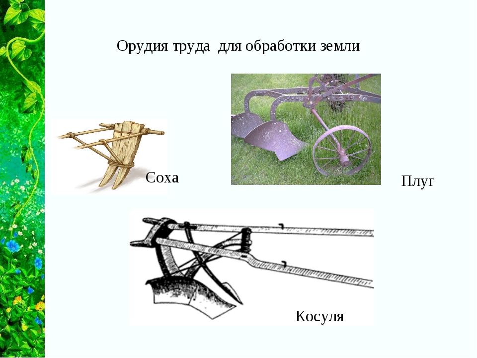 Орудия труда для обработки земли Соха Плуг Косуля