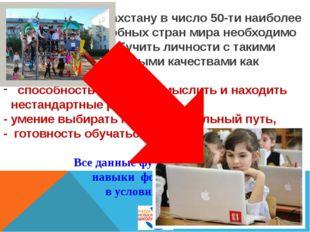 Чтобы войти Казахстану в число 50-ти наиболее конкурентоспособных стран мира