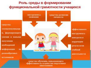 Роль среды в формировании функциональной грамотности учащихся инструмента по