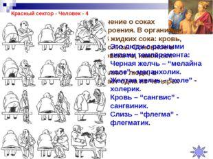 Красный сектор - Человек - 4 Гиппократом было создано учение о соках организм