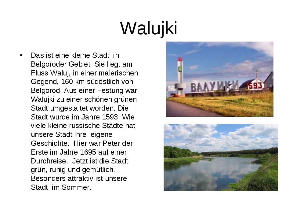 Walujki Das ist eine kleine Stadt in Belgoroder Gebiet. Sie liegt am Fluss W...
