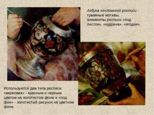 Азбука хохломской росписи : травяные мотивы, элементы росписи «под листок», «