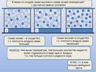 В каком из сосудов самая высокая и самая низкая температура? ( при прочих ра