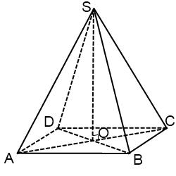 Задача Егэ B9. . В правильной четырехугольной пирамиде \(SAB…