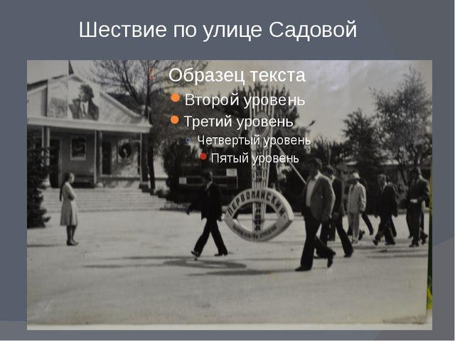 Шествие по улице Садовой