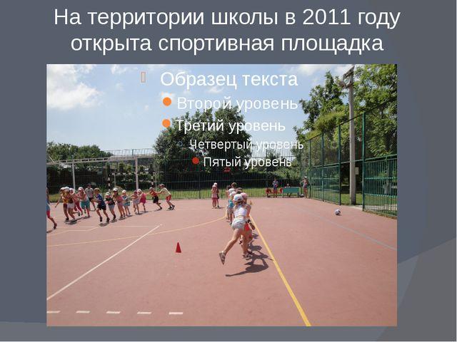 На территории школы в 2011 году открыта спортивная площадка