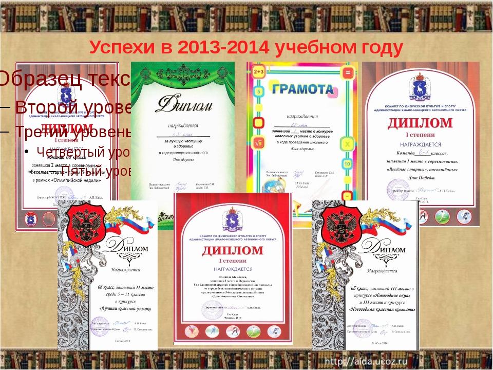 Успехи в 2013-2014 учебном году