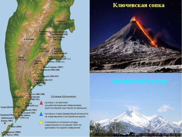 Ключевская сопка Авачинский вулкан