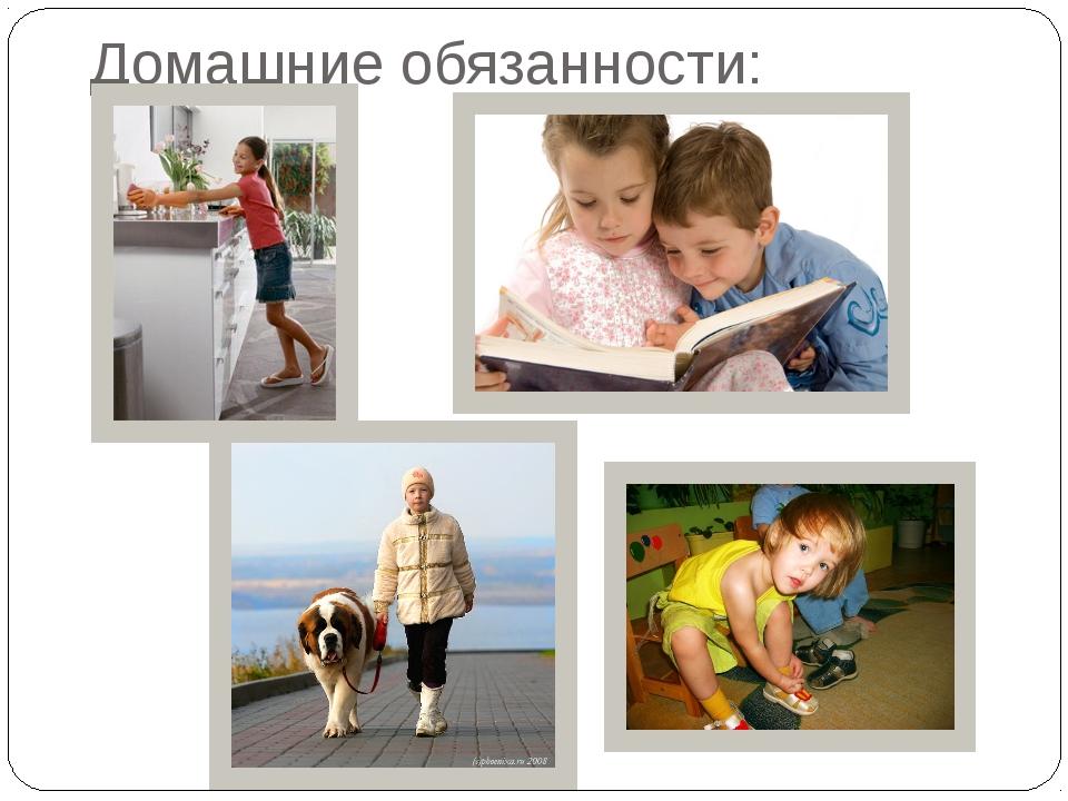 Домашние обязанности: