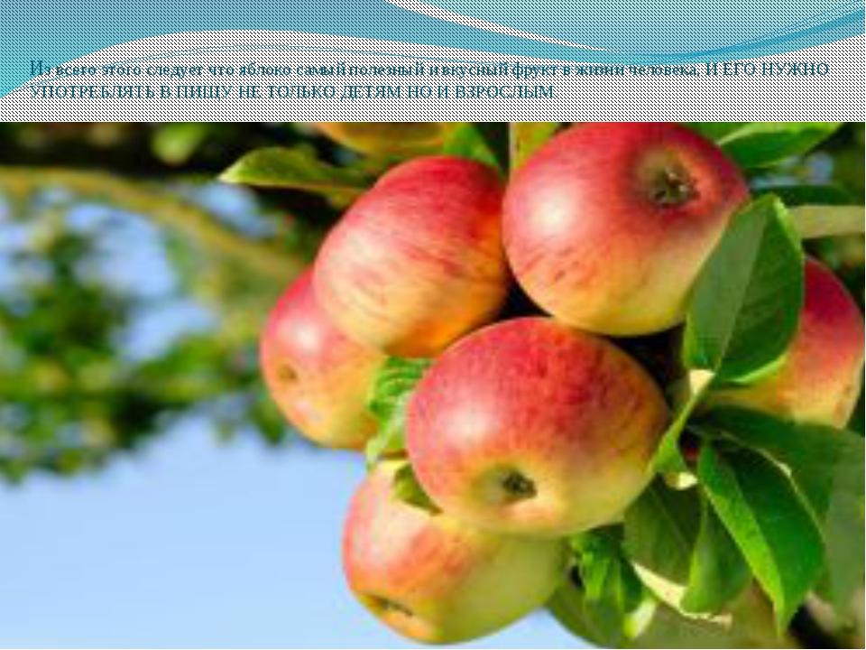 Из всего этого следует что яблоко самый полезный и вкусный фрукт в жизни чело...