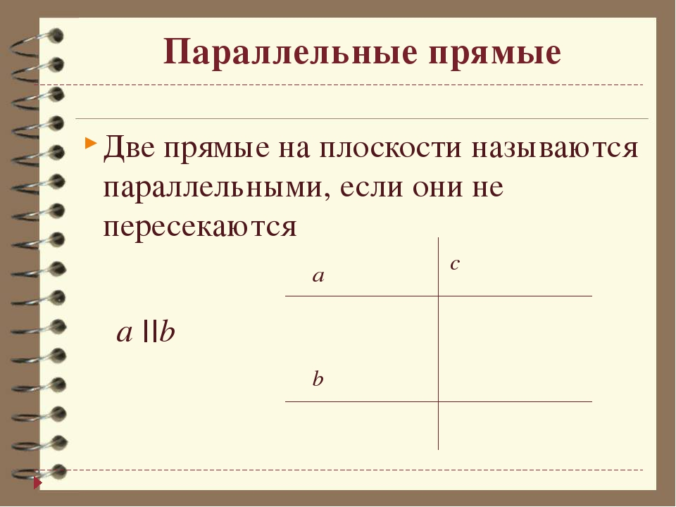 Параллельные прямые Две прямые на плоскости называются параллельными, если он...