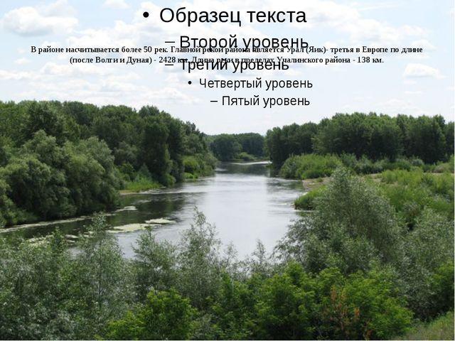 В районе насчитывается более 50 рек. Главной рекой района является Урал (Яик...