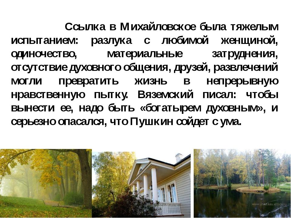 Ссылка в Михайловское была тяжелым испытанием: разлука с любимой женщиной, о...