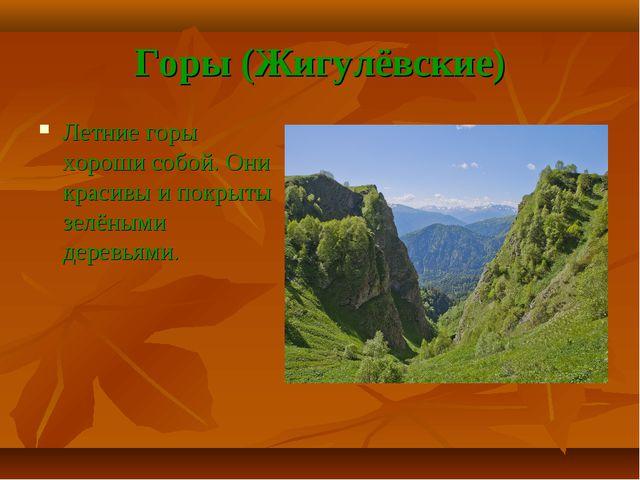 Горы (Жигулёвские) Летние горы хороши собой. Они красивы и покрыты зелёными д...