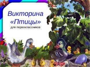Викторина «Птицы» для первоклассников