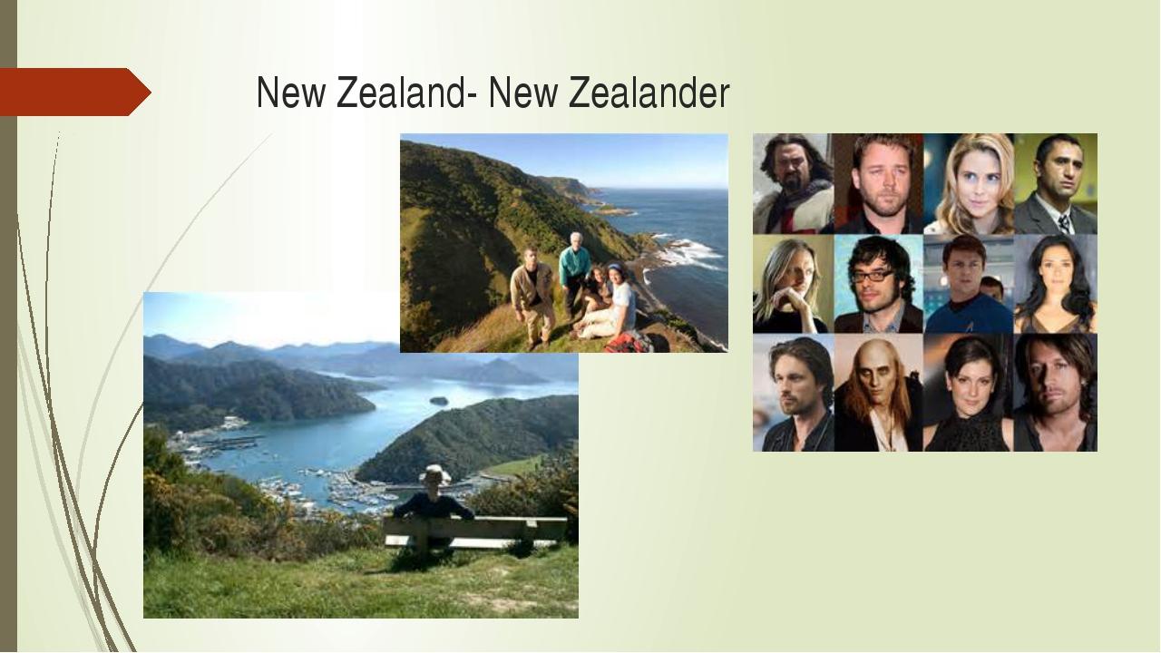 New Zealand- New Zealander
