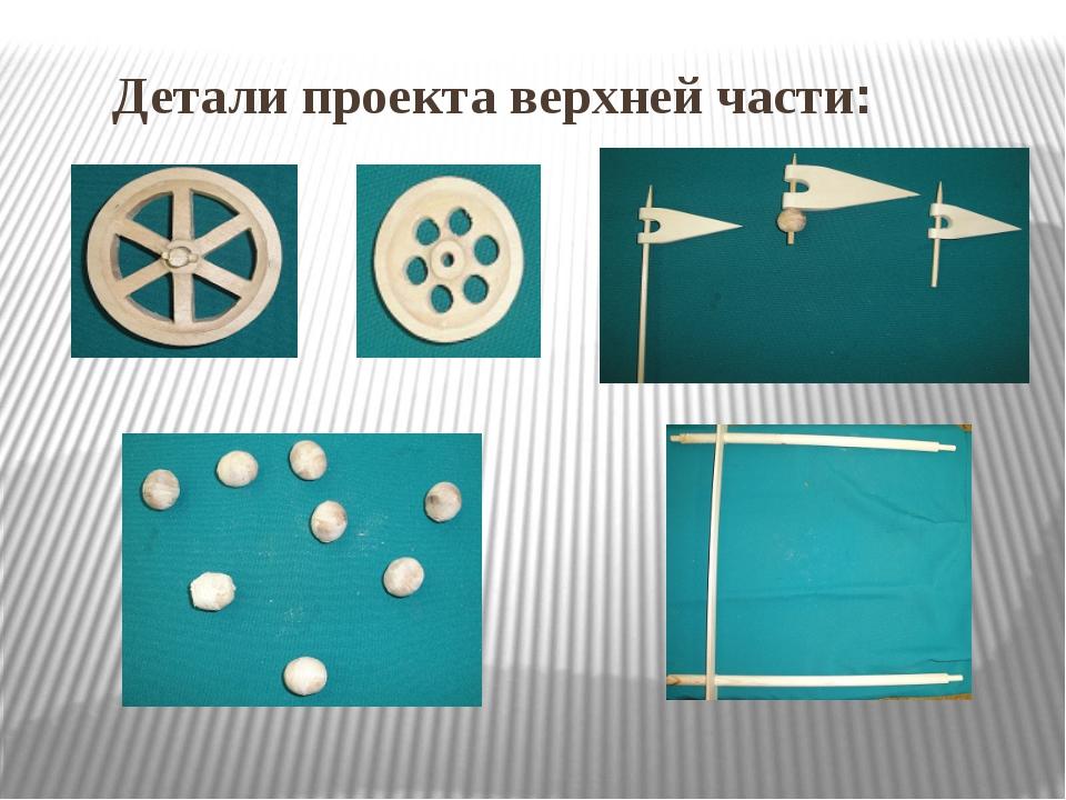 Детали проекта верхней части: