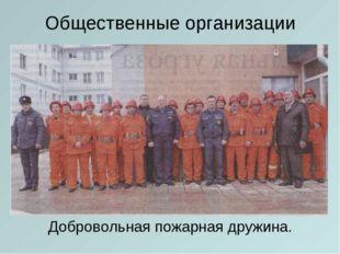 Общественные организации Добровольная пожарная дружина.